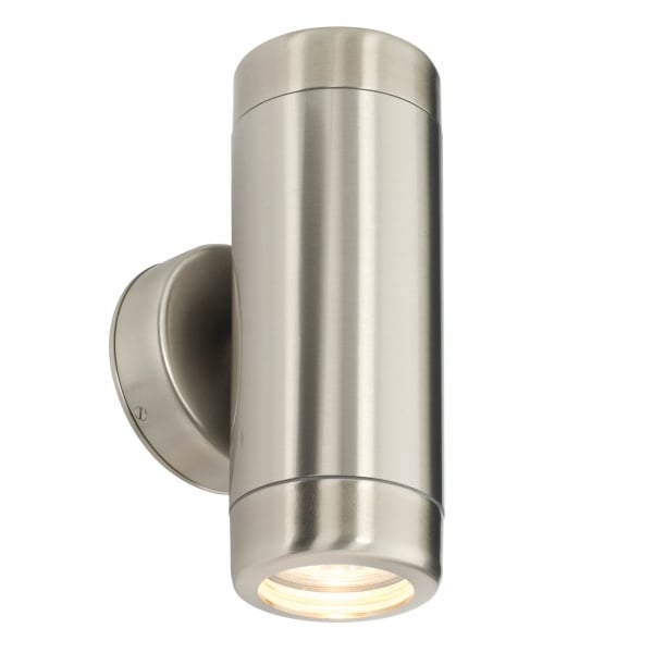 Endon 14015 Atlantis 2 Light Outdoor Wall Light Marine Grade Stainless Steel