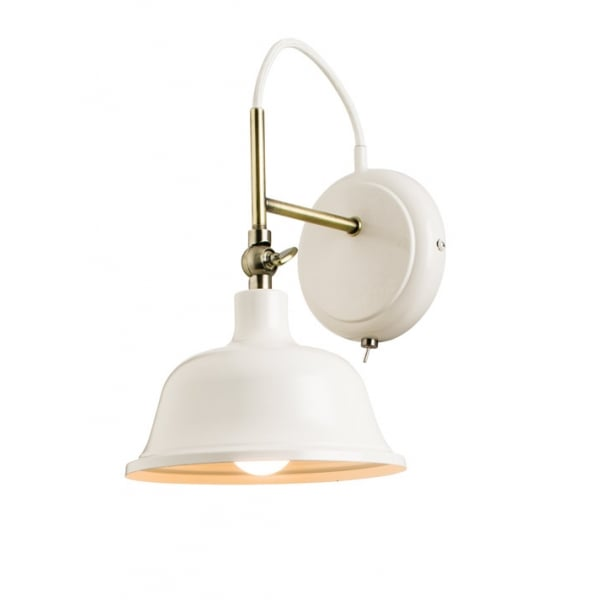 endon laughton light switched wall light cream