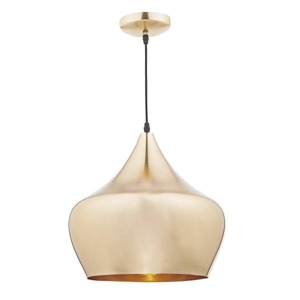 Dar POG0135 Pogo Gold 1 Light Double Insulated Pendant