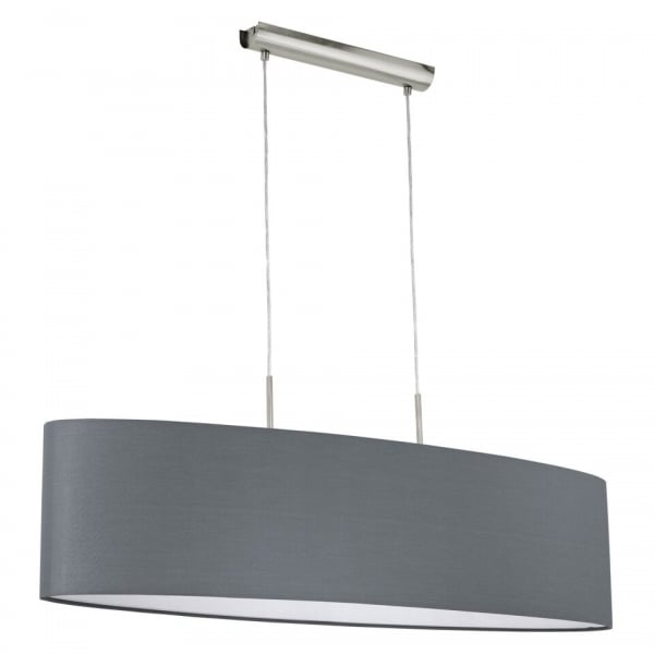 This Is A 2 Light Pendant Complete With A Matt Grey Shade