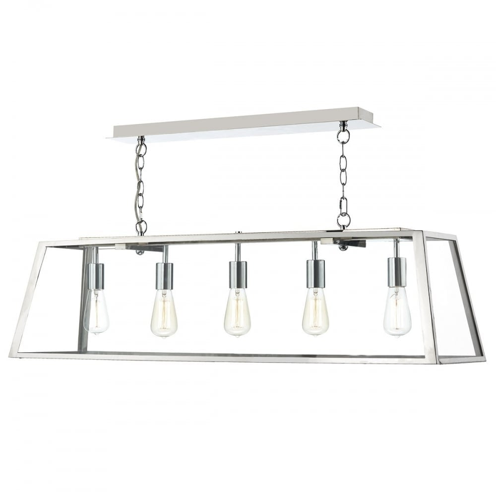 Aca0544 academy 5 light ceiling pendant stainless steel