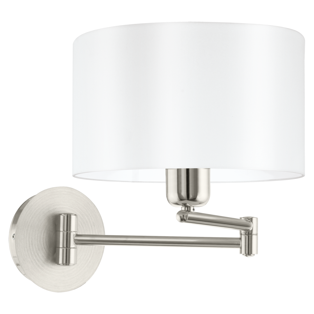 This Is A 1 Light Wall Light Complete With A Matt White Shade