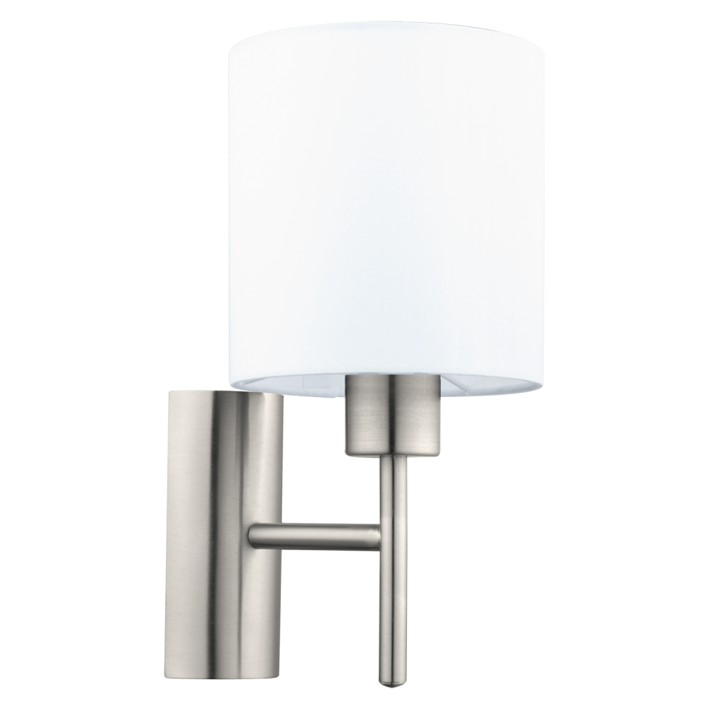 Switched Wall Light White : This is a 1 light wall light complete with a matt white shade
