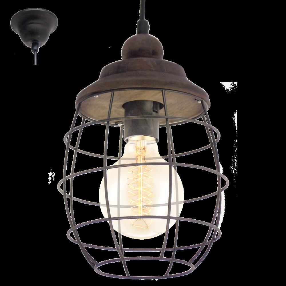 49219 Bampton 1 Light Ceiling Pendant Rustic