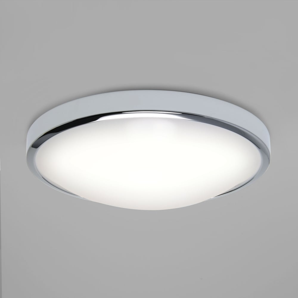 7831 osaka led flush ceiling light polished chrome ip44
