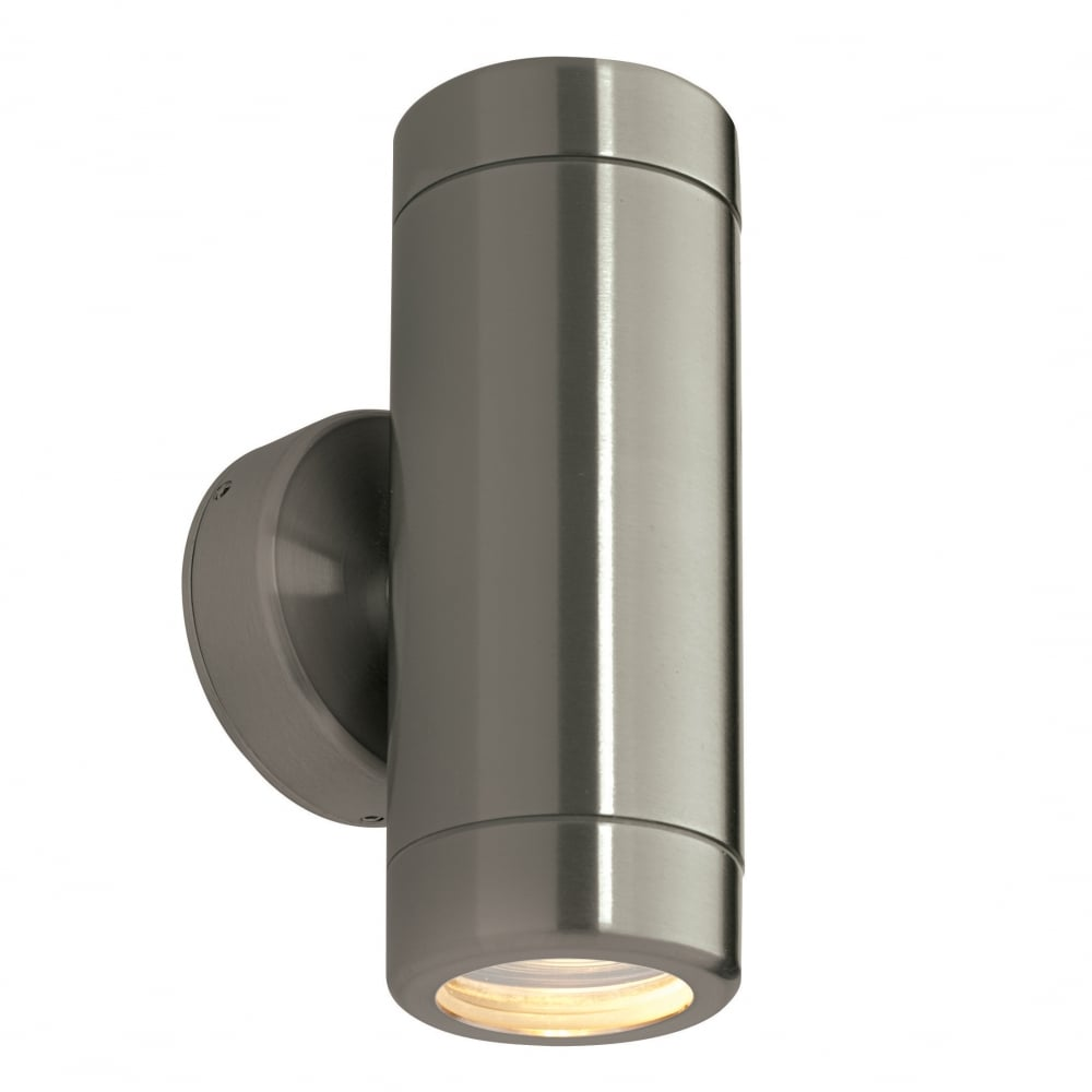 Saxby Odyssey 2 Light Wall Light Brushed Stainless Steel