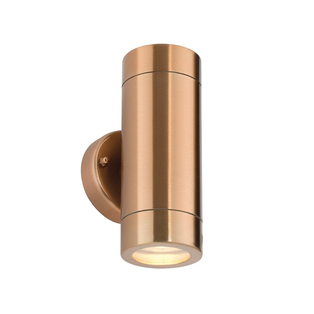Saxby ST5008C Odyssey Outdoor IP44 2 Light Wall Light Copper