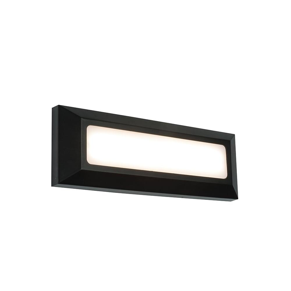 Led Wall Light Ip65: Endon 61211 Severus LED Wall Light IP65 Black
