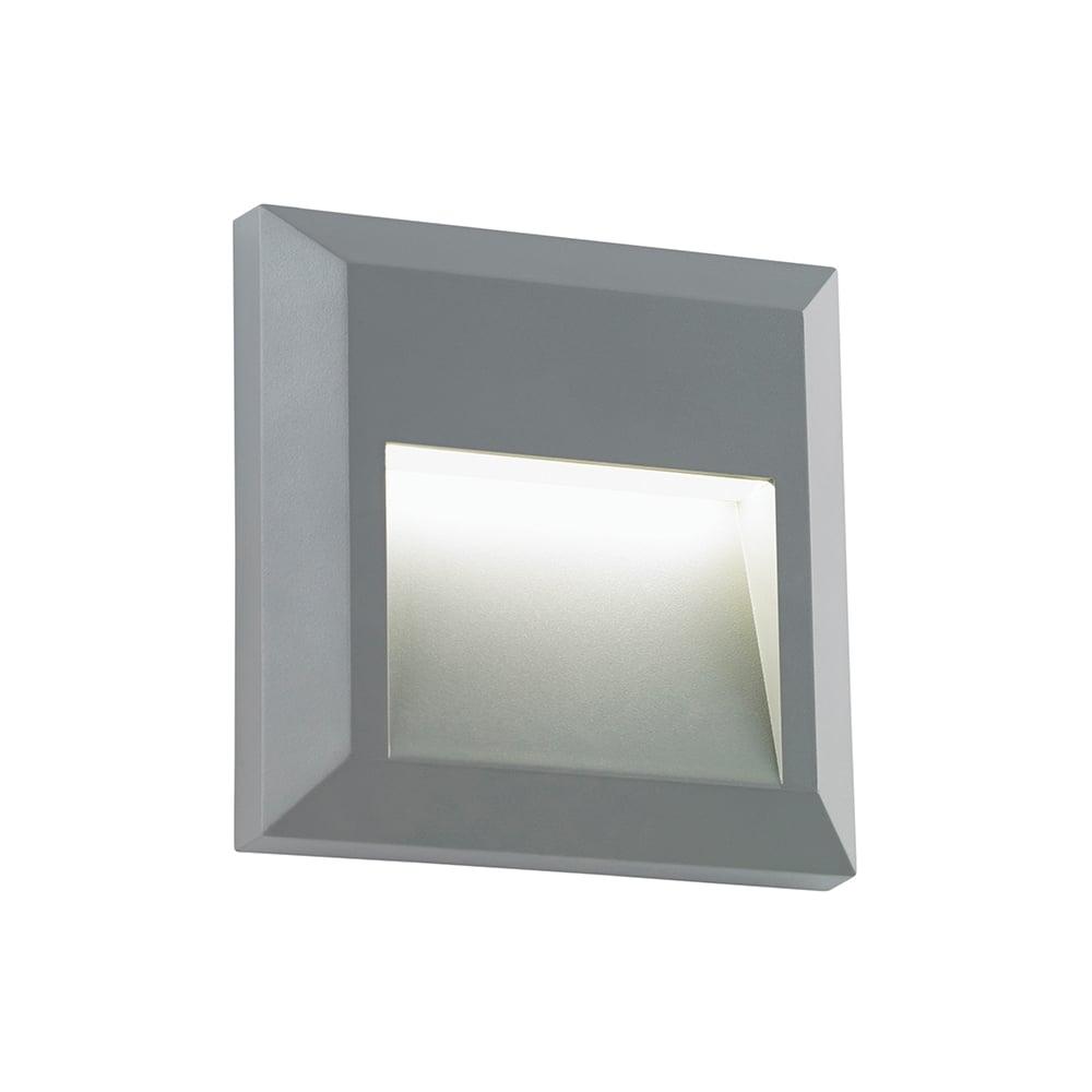 Led Wall Light Ip65: Endon EL-40107 Severus Square LED Wall Light IP65 Grey