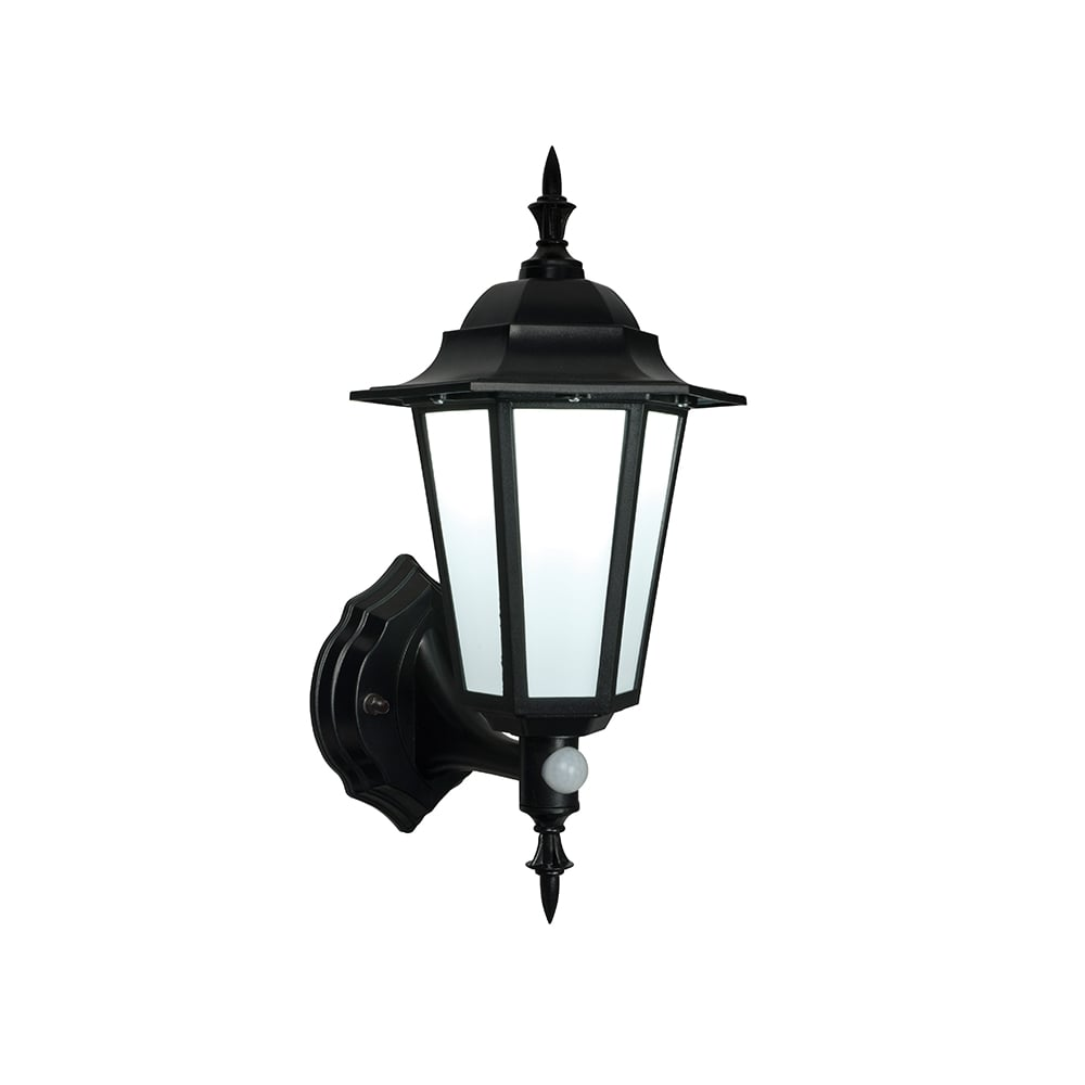 Endon Evesham Black Outdoor LED Wall Light with Sensor