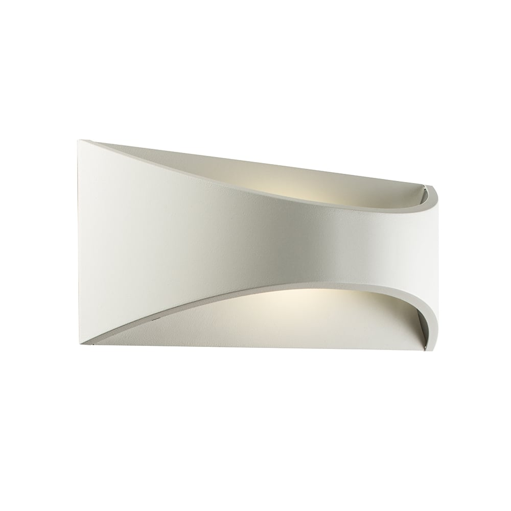 Saxby 61866 Vulcan Large White Outdoor LED Wall Light