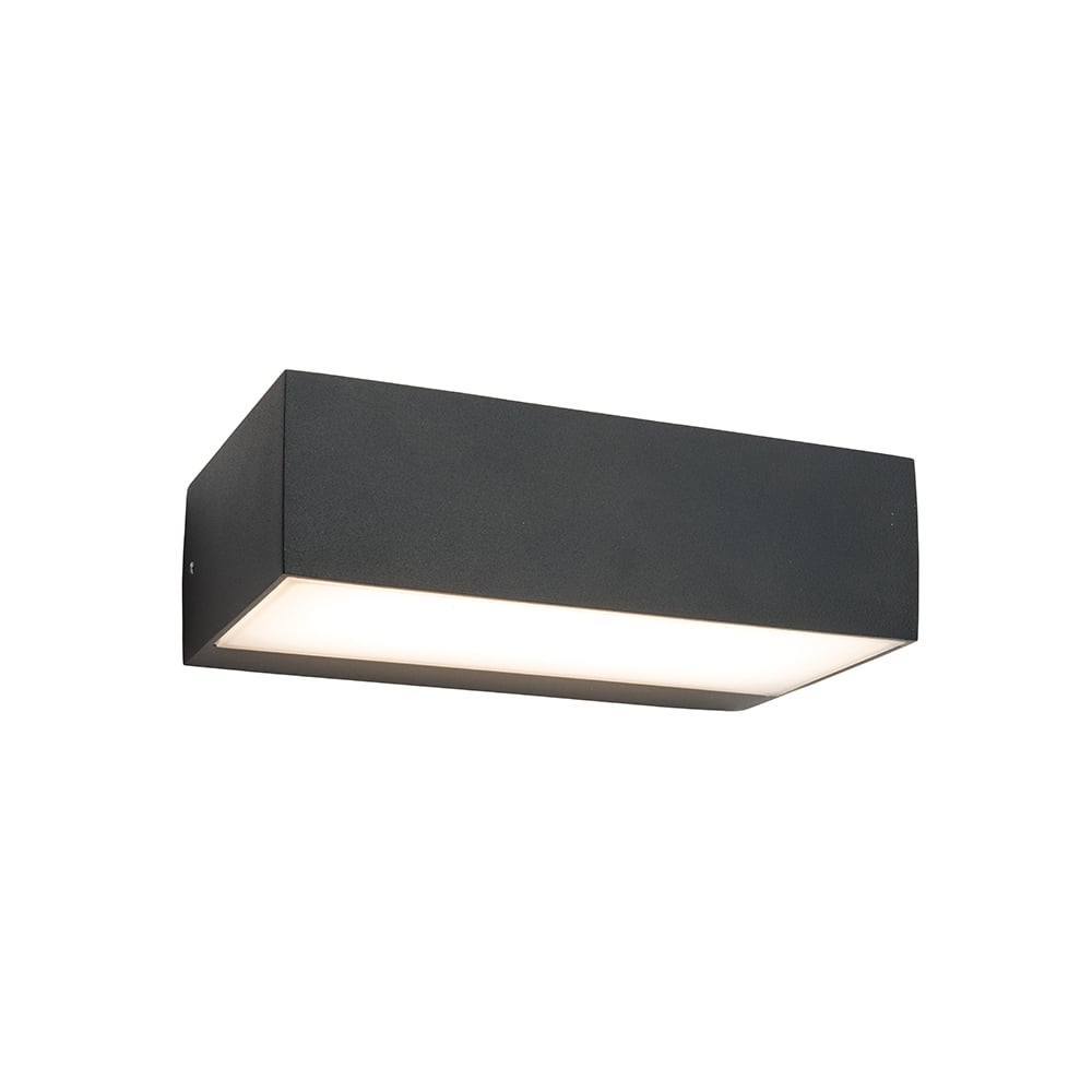 Saxby 61338 Kempton Black Outdoor LED Wall Light