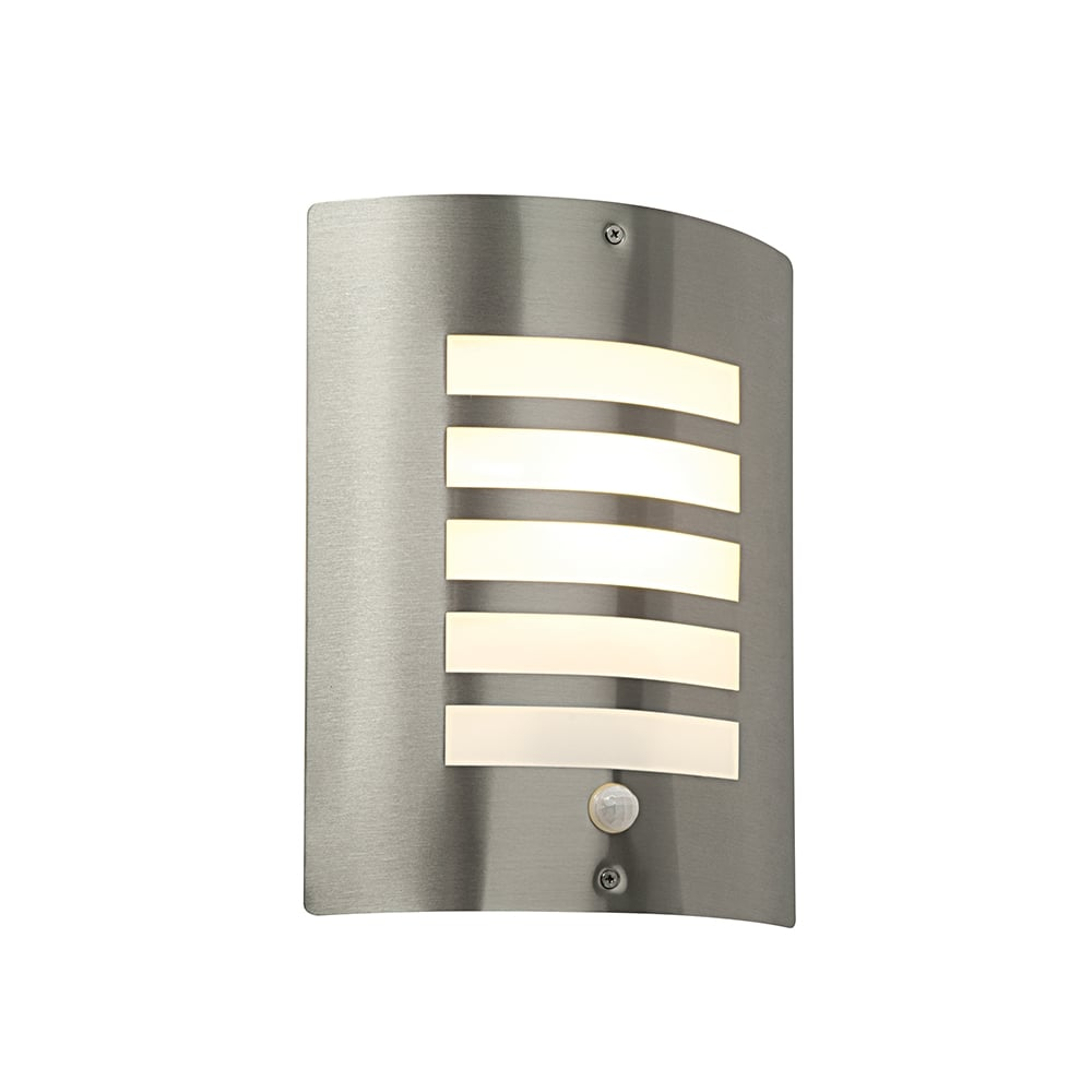 Saxby st031fpir bianco stainless steel modern outdoor pir wall light st031fpir bianco outdoor sensor wall light stainless steel ip44 mozeypictures