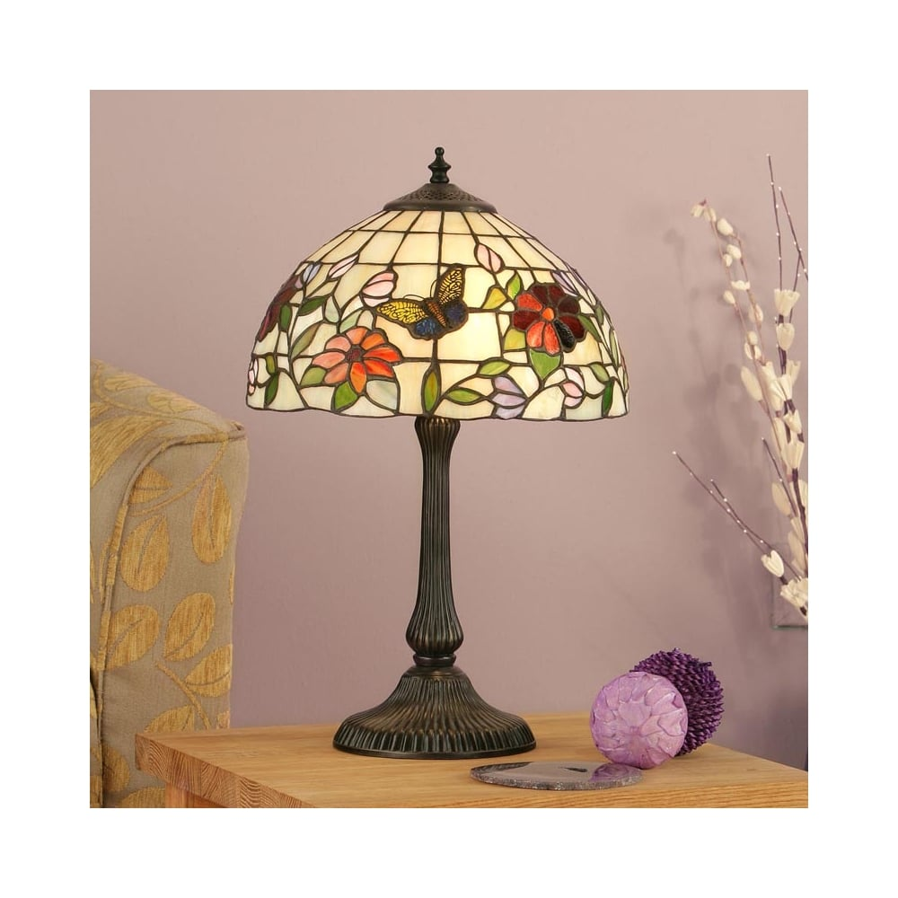 Interiors 1900 Butterfly Tiffany Table Lamp