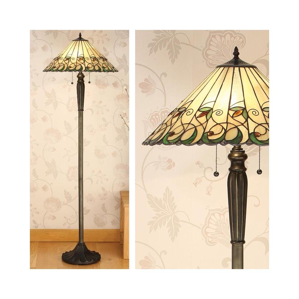 Interiors 1900 2 light jamelia tiffany floor lamp 64192 jamelia 2 light tiffany floor lamp mozeypictures Images