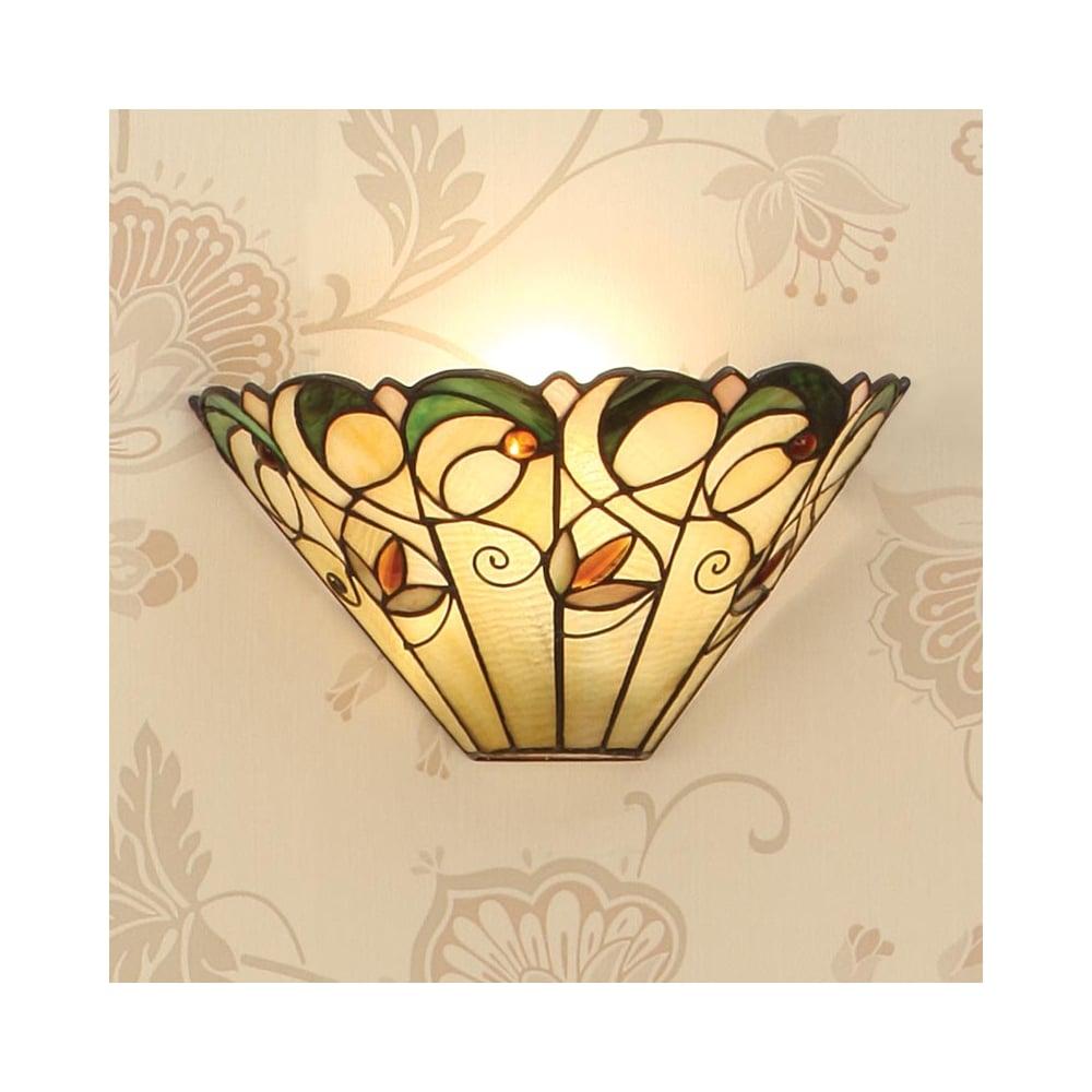 Interiors 1900 1 Light Jamelia Tiffany Wall Light