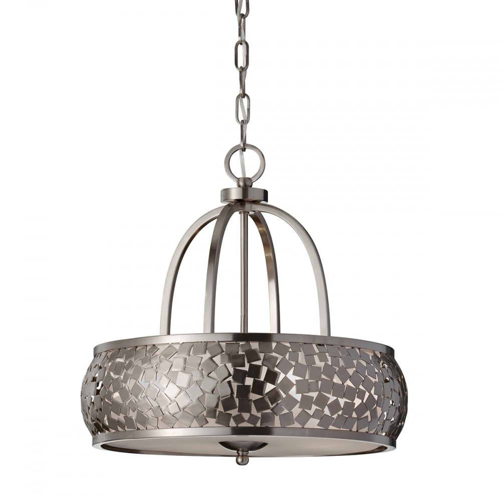 Contemporary Zara 4 Light Ceiling Pendant Brushed Steel