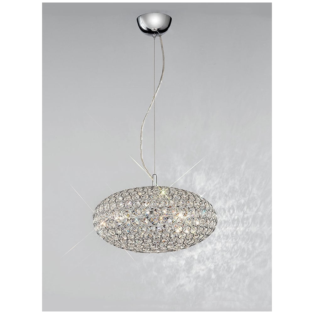 Marquesa fl22733 crystal 3 light pendant franklite pendants fl22733 marquesa 3 light crystal ceiling pendant polished chrome mozeypictures Images