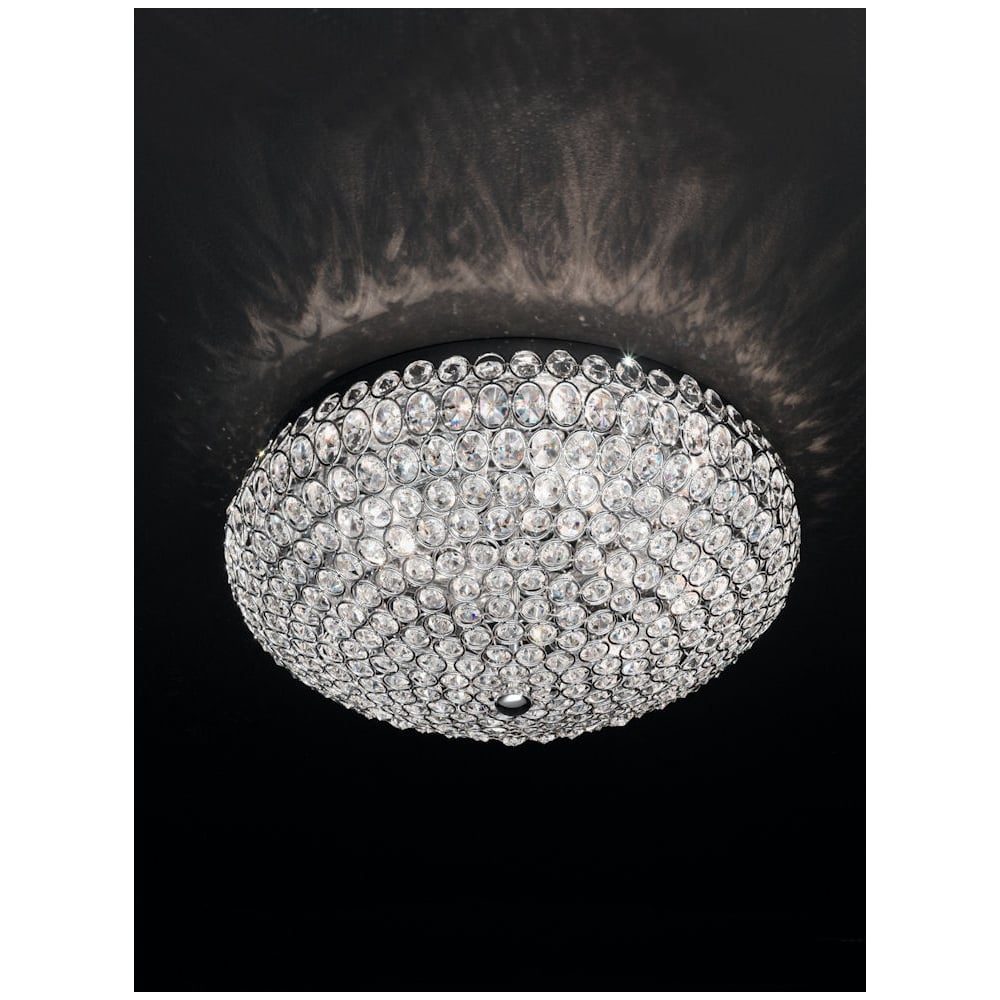 Marquesa fl22756 crystal 6 light flush ceiling light franklite fl22756 marquesa 6 light crystal flush ceiling light polished chrome aloadofball Gallery