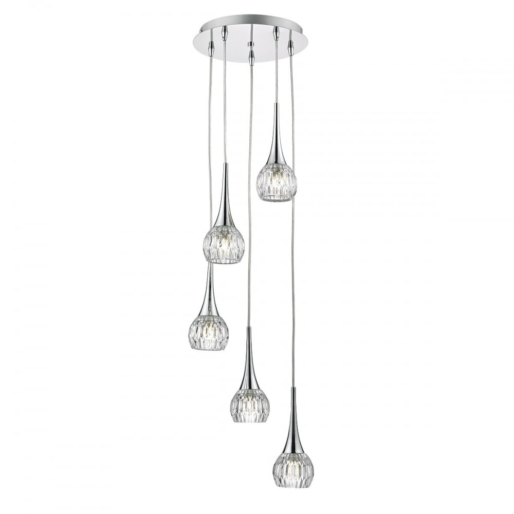 Lyall LYA0550 Dar 5 Light Polished Chrome Pendant