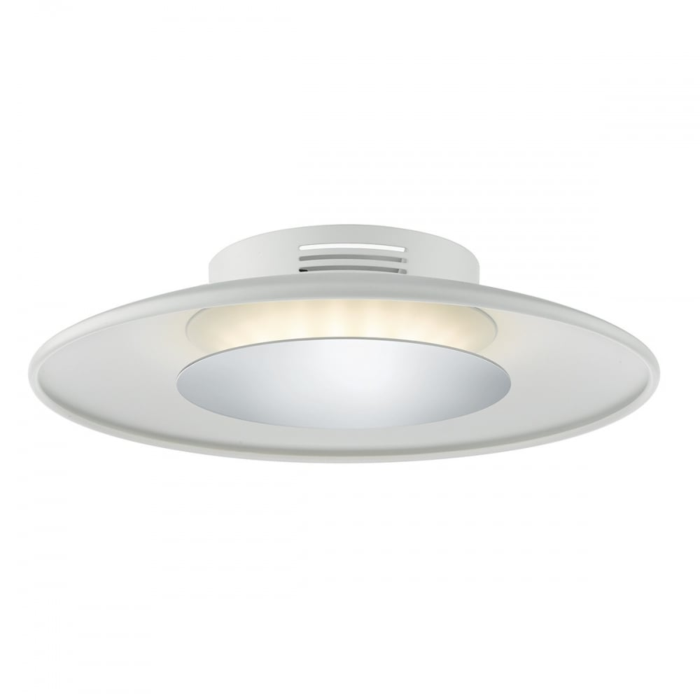 WOR522 Worcester LED Flush Ceiling Light Matt White  sc 1 st  Ocean Lighting : kitchen ceiling lights uk - www.canuckmediamonitor.org