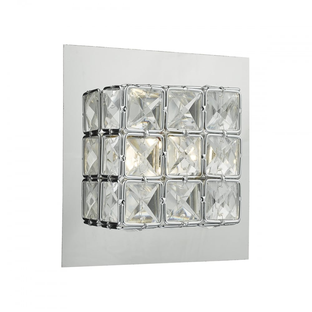 Switched Wall Light Crystal : IMO0750 Imogen Switched Wall Light LED Polished Chrome