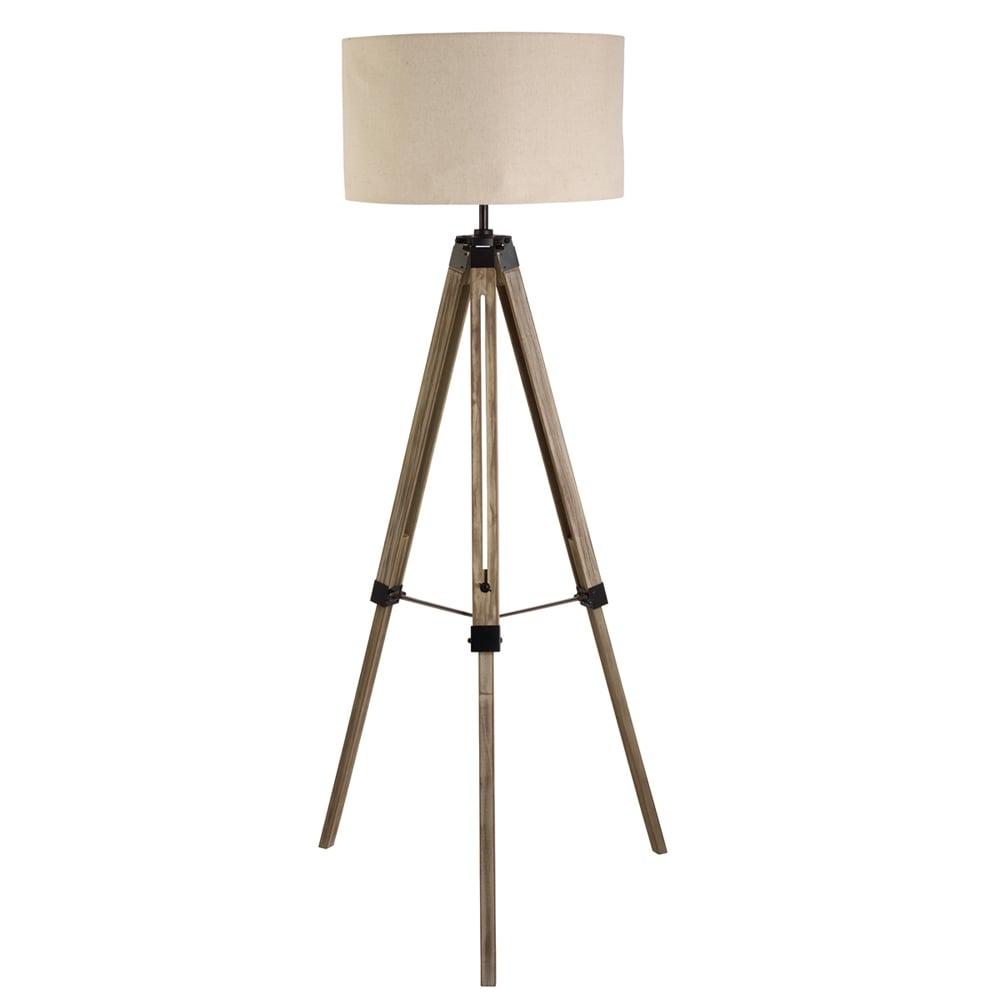 searchlight 6006br 1 light tripod floor lamp black brown wood. Black Bedroom Furniture Sets. Home Design Ideas