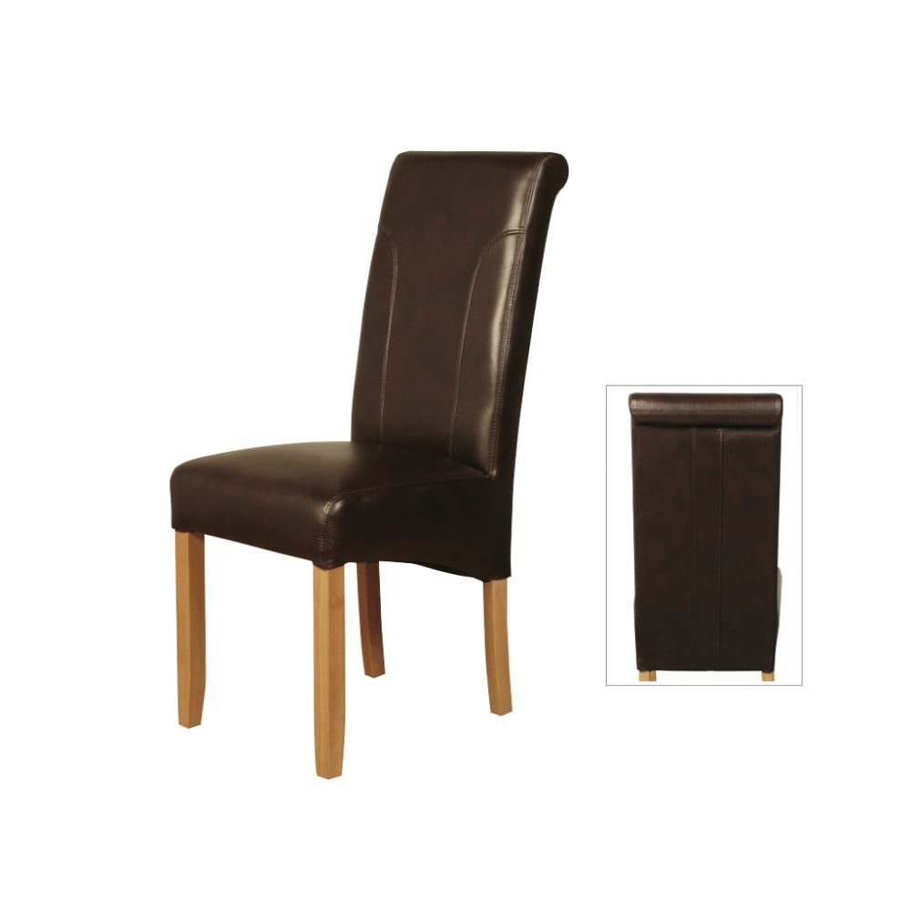 Annaghmore Leather Dining Chairs