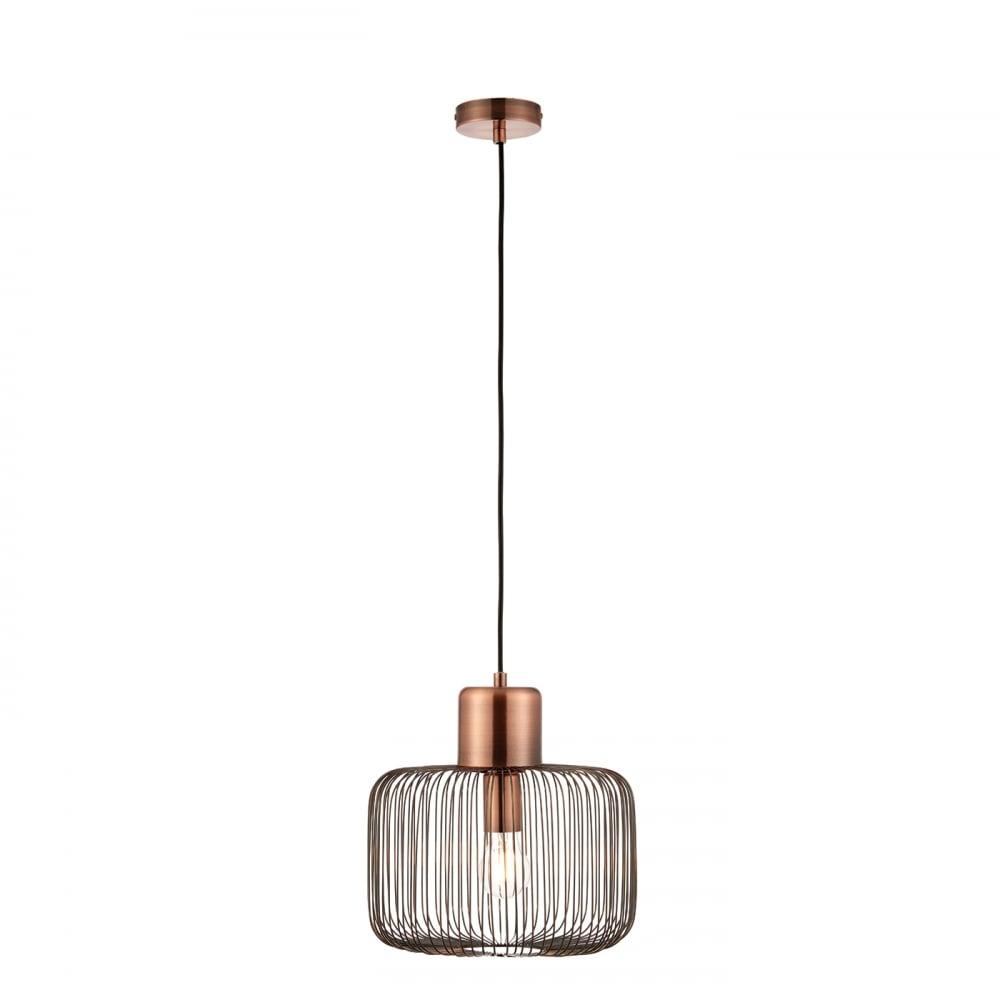 Ceiling Lights Copper : Endon nicola antique copper ceiling pendant