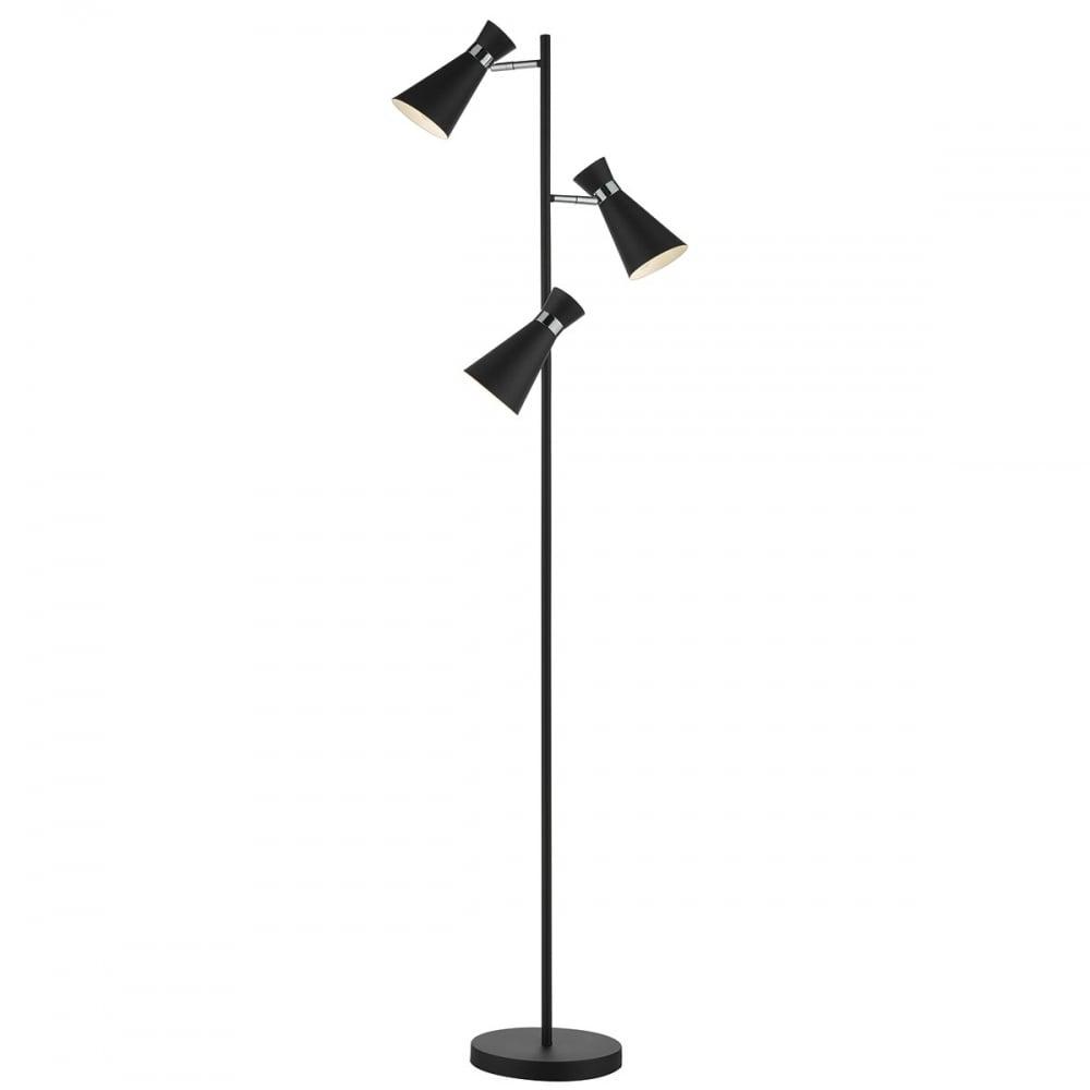 Dar ashworth ash4922 matt black 3 light adjustable floor lamp dar ash4922 ashworth 3 light floor lamp matt black aloadofball Choice Image