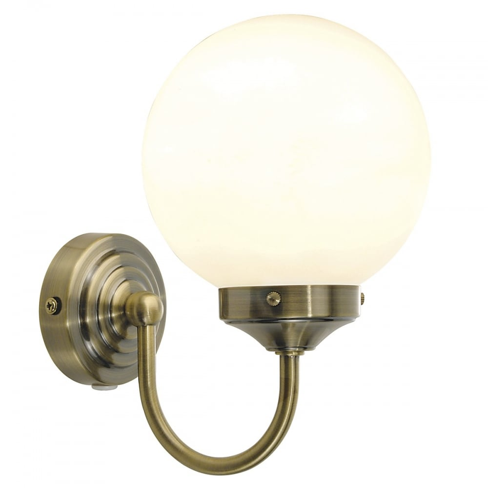 bar0775 barclay antique brass switched bathroom wall light. Black Bedroom Furniture Sets. Home Design Ideas