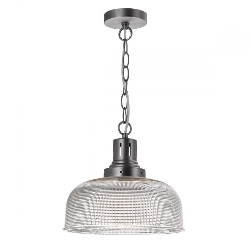 Tack industrial nickel 1 light ceiling pendant dar tac0161 tack 1 light ceiling pendant industrial nickel mozeypictures Images