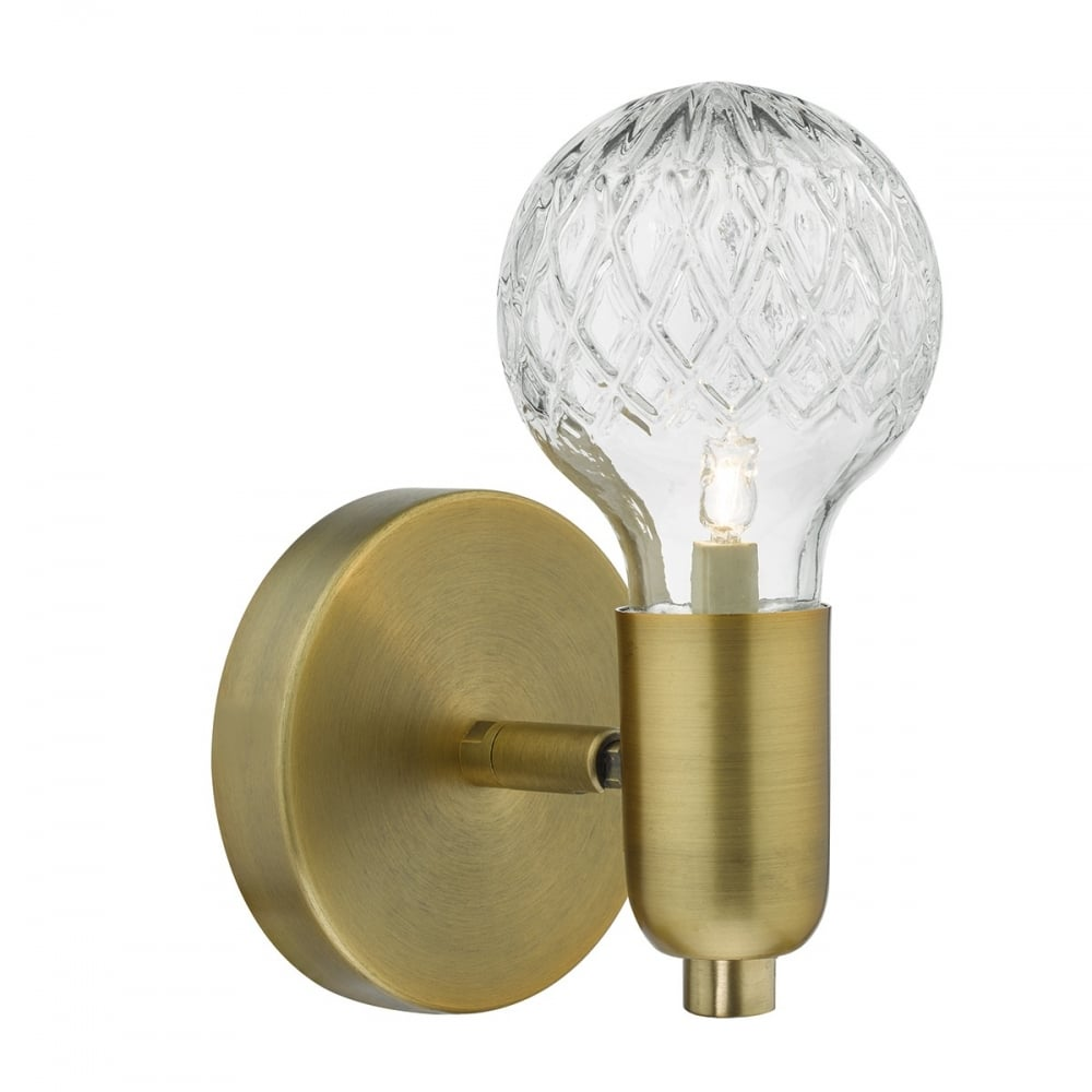 Wall Lights Tesco Direct : WRE0775 1 Light Antique Brass Switched Wall Light