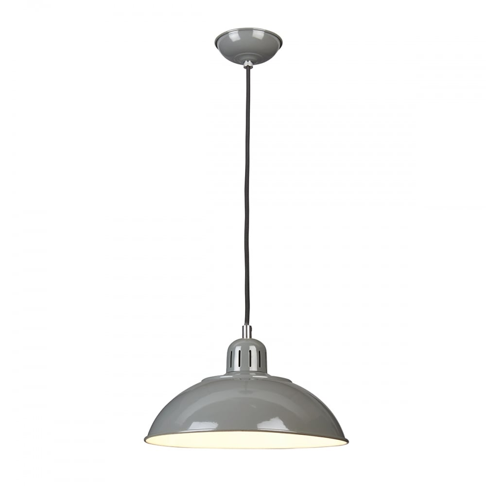 Franklin P Gy Grey Single Pendant