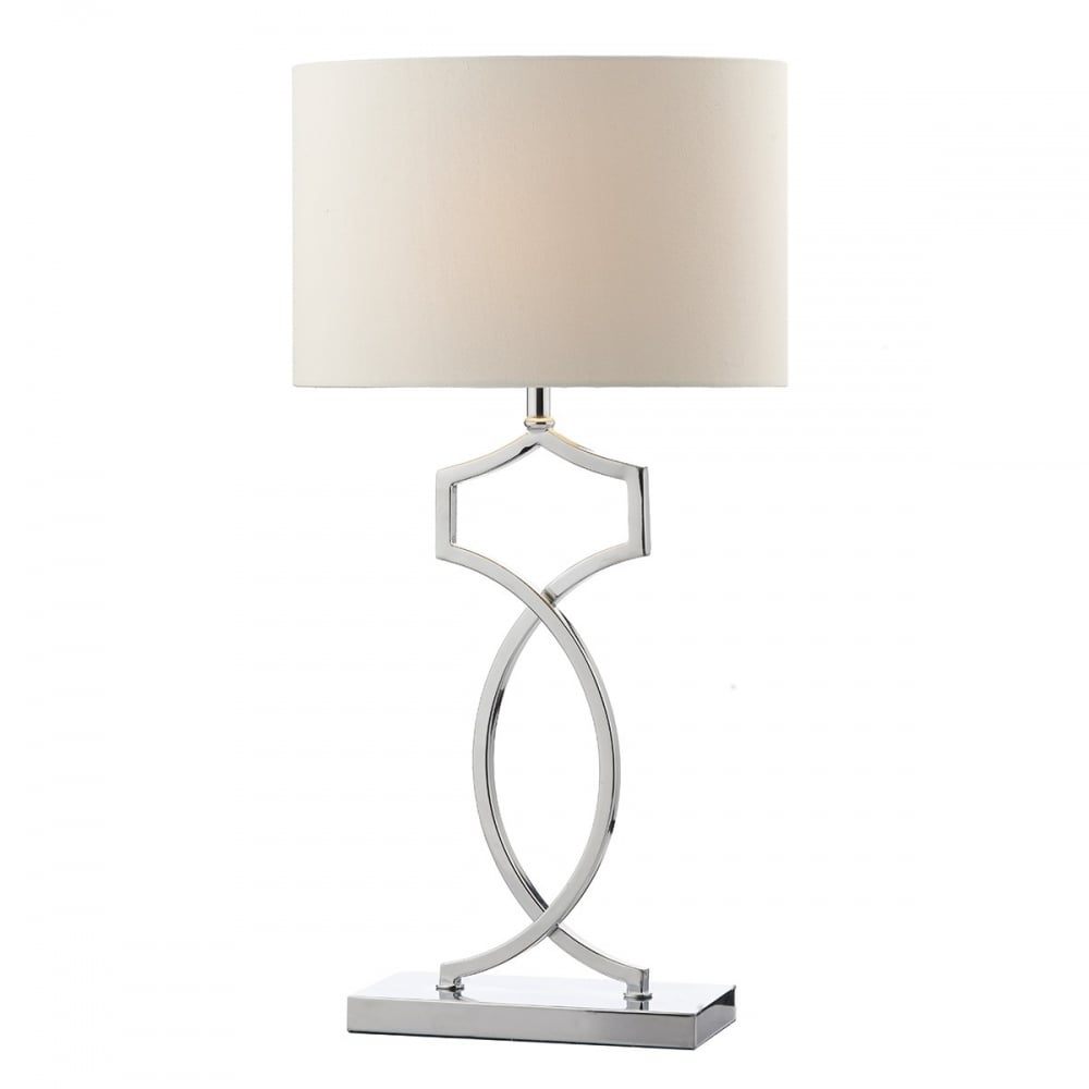 Stylish don4250 polished chrome table lamp dar don4250 donovan 1 light table lamp polished chrome mozeypictures Images