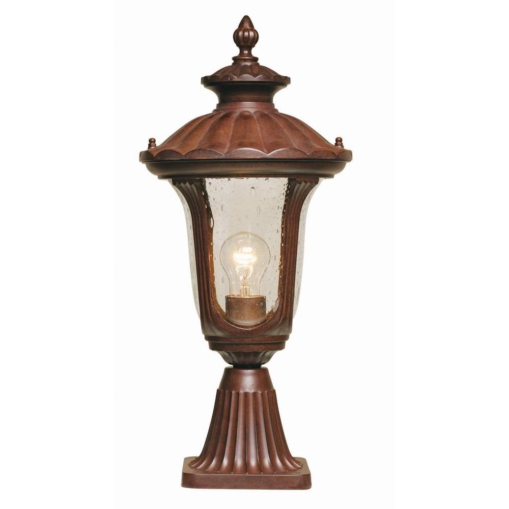 Chicago Lighting Company: Elstead CC3/S Rustic Bronze 1 Light Post Lamp IP44