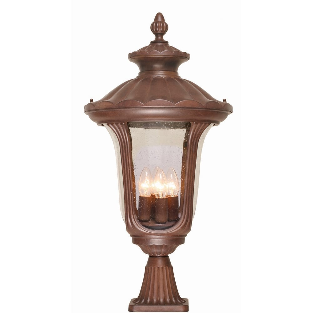 Chicago Lighting Company: Elstead CC3/L Rustic Bronze 4 Light Post Lamp IP44