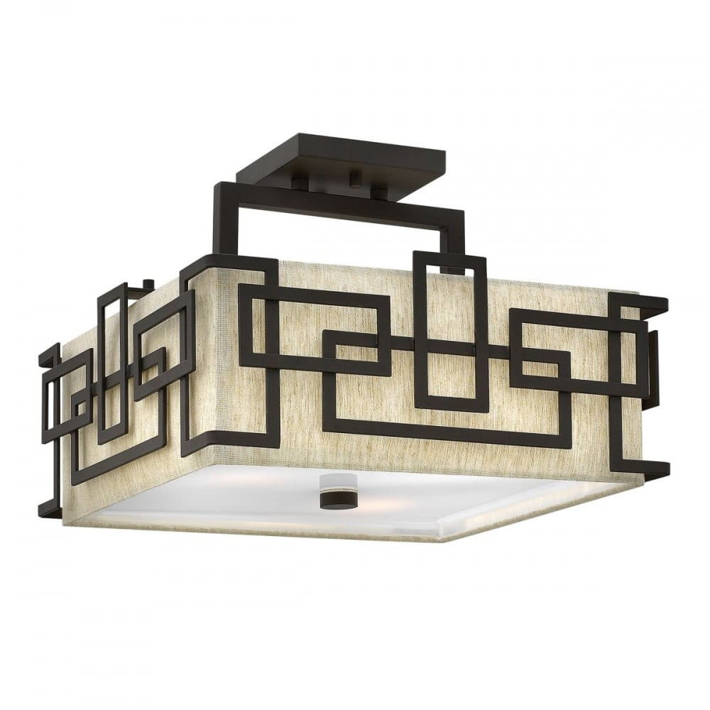 Hinkley Lanza Oil Rubbed Bronze Ceiling Light