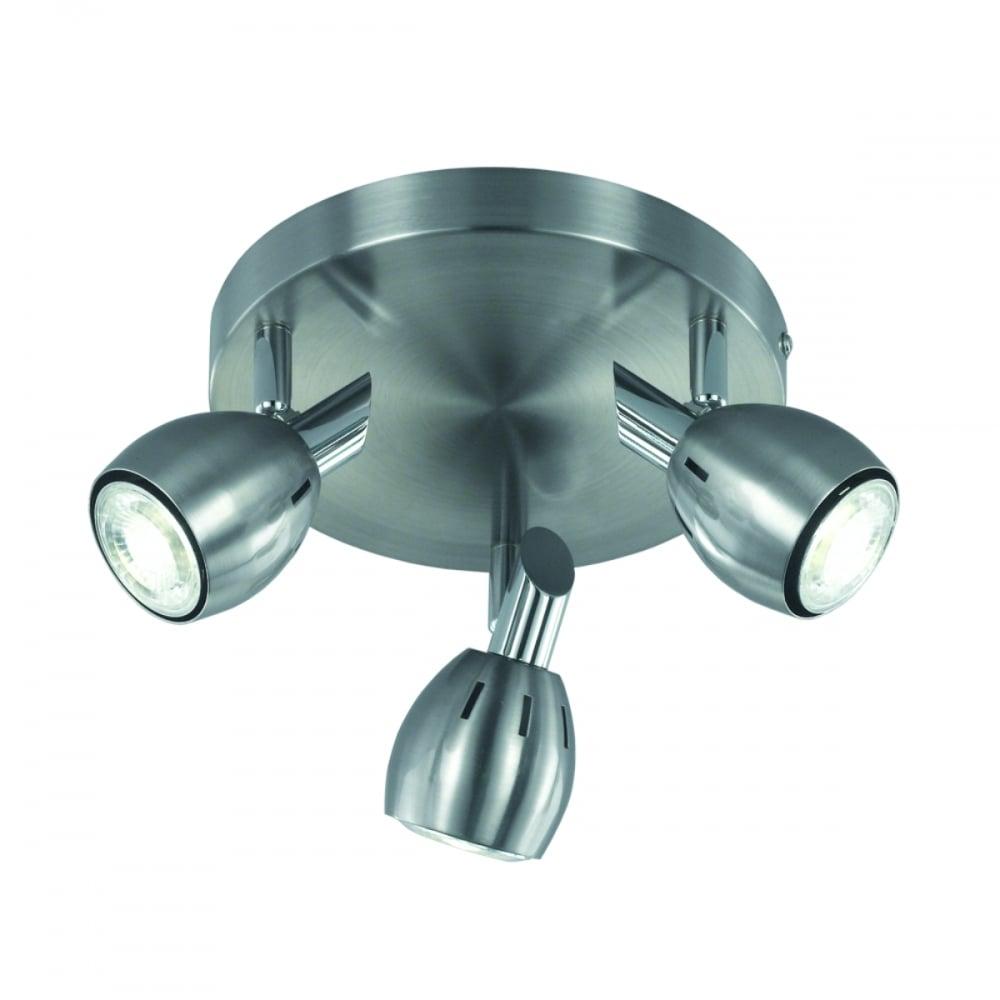 Franklite SPOT9003 Tivoli 3 Light Ceiling Satin Nickel
