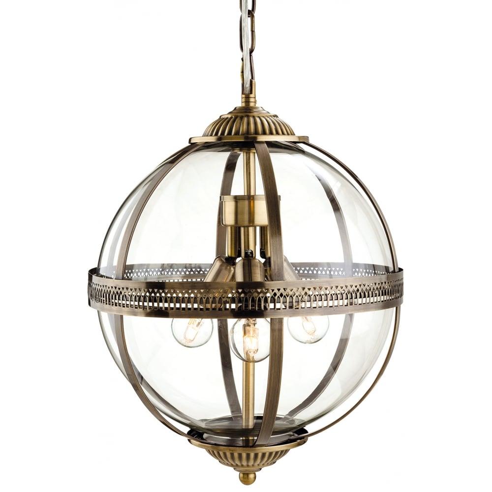 Mayfair 3 Light Ceiling Lantern Pendant 3413AB