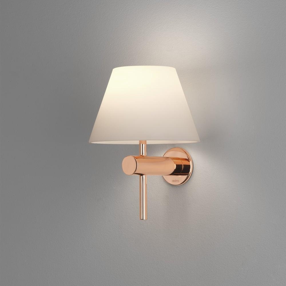 8056 Roma IP44 Bathroom Wall Light in Copper & Astro Roma IP44 Bathroom Wall Light in Copper