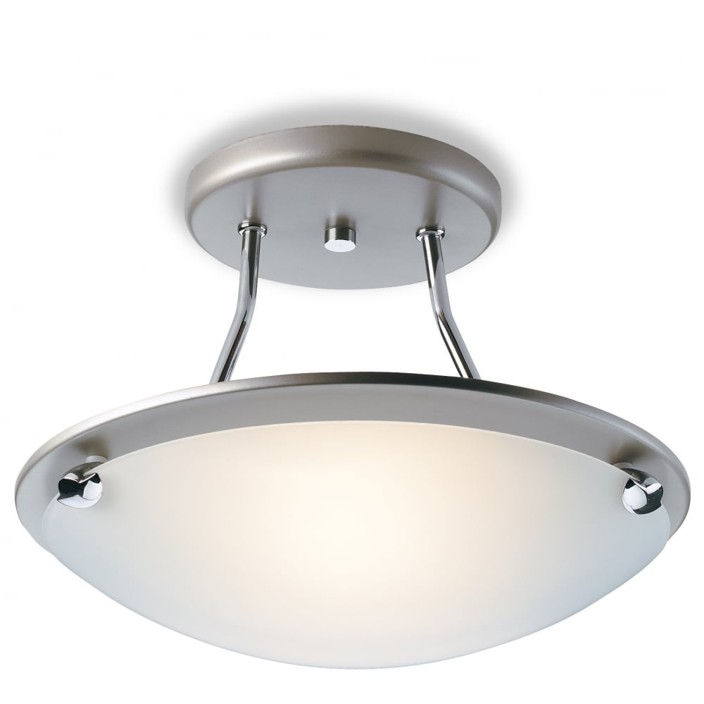 Ceiling Lights Semi Flush : Champagne semi flush ceiling light s ss