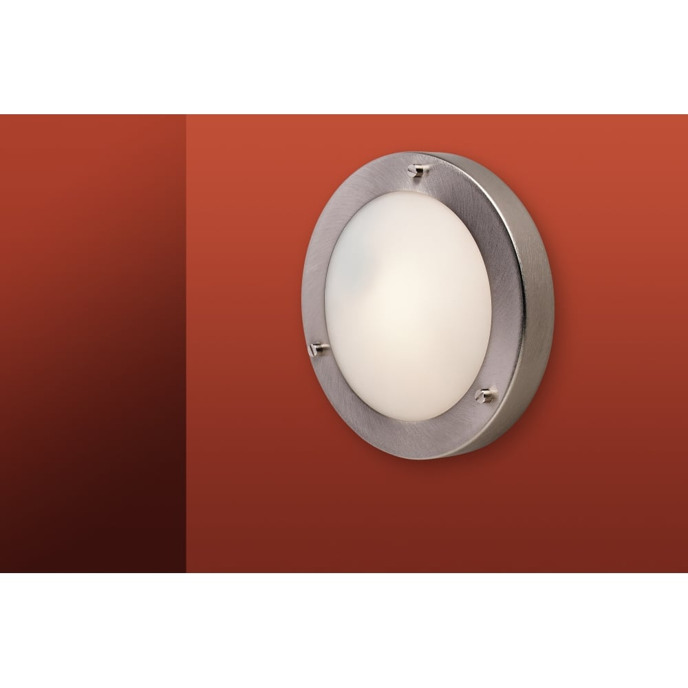 Fitting Wall Lights With No Earth : Rondo Flush Ceiling Fitting & Wall Light 2745BS