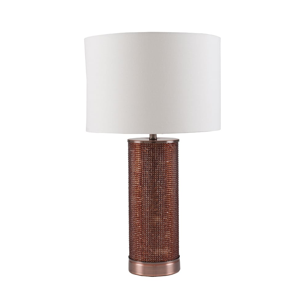 Sienna 30 442 c copper beaded table lamp pacific lifestyle 30 442 c sienna 1 light table lamp chopper geotapseo Images
