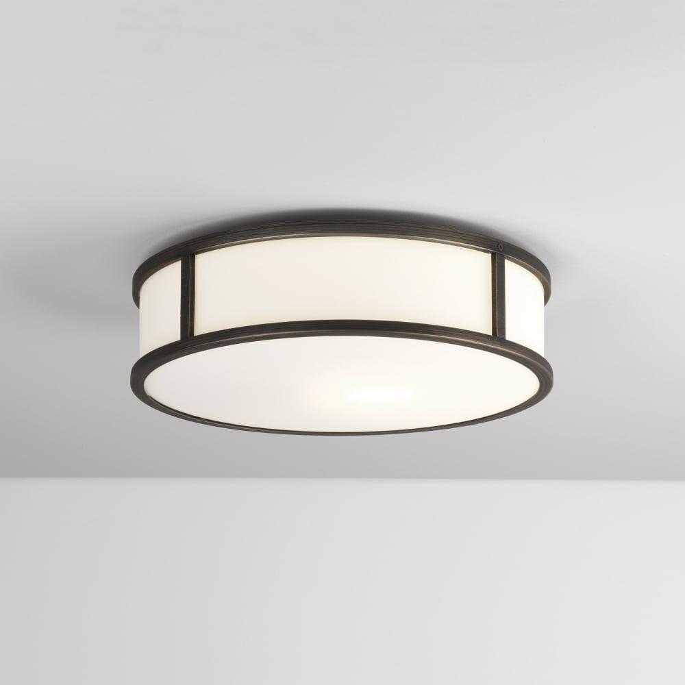7988 mashiko 300 round led ceiling light ip44 bronze