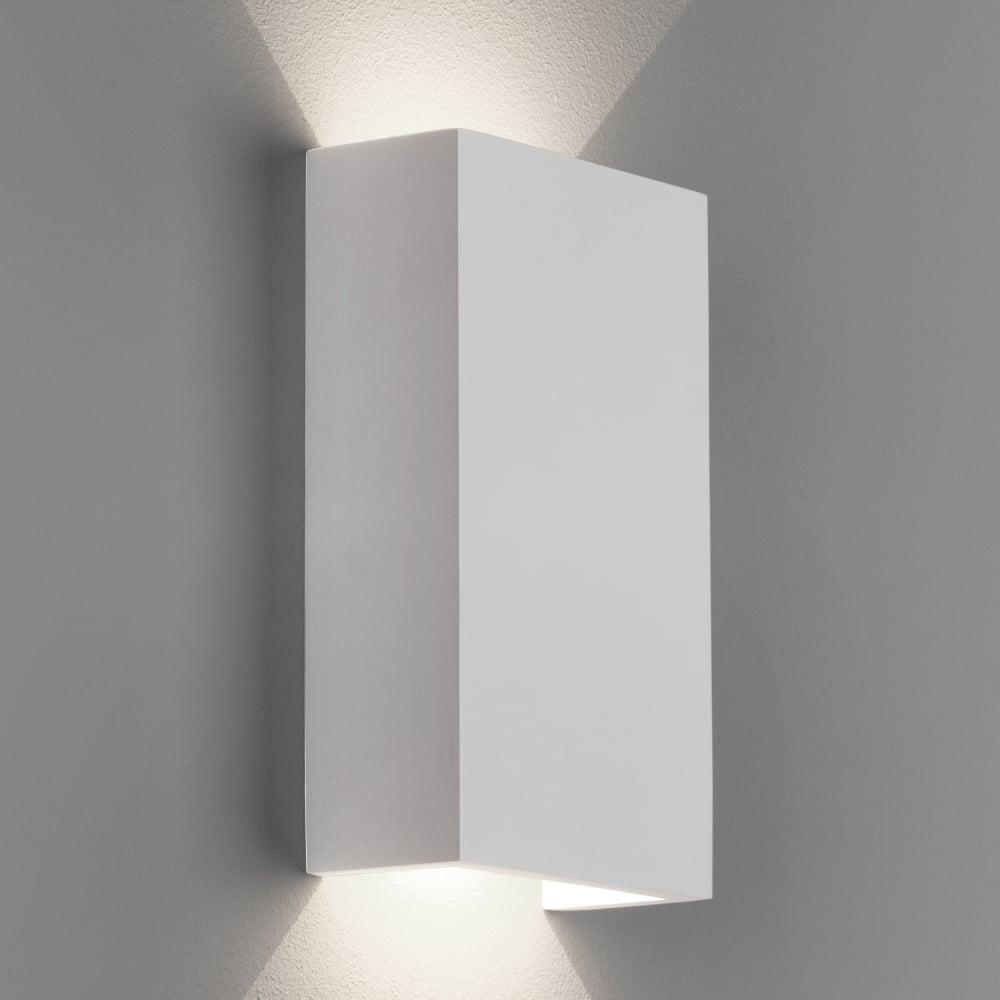 Led Wall Lights Plaster: Astro Rio 125 LED Wall Light Plaster
