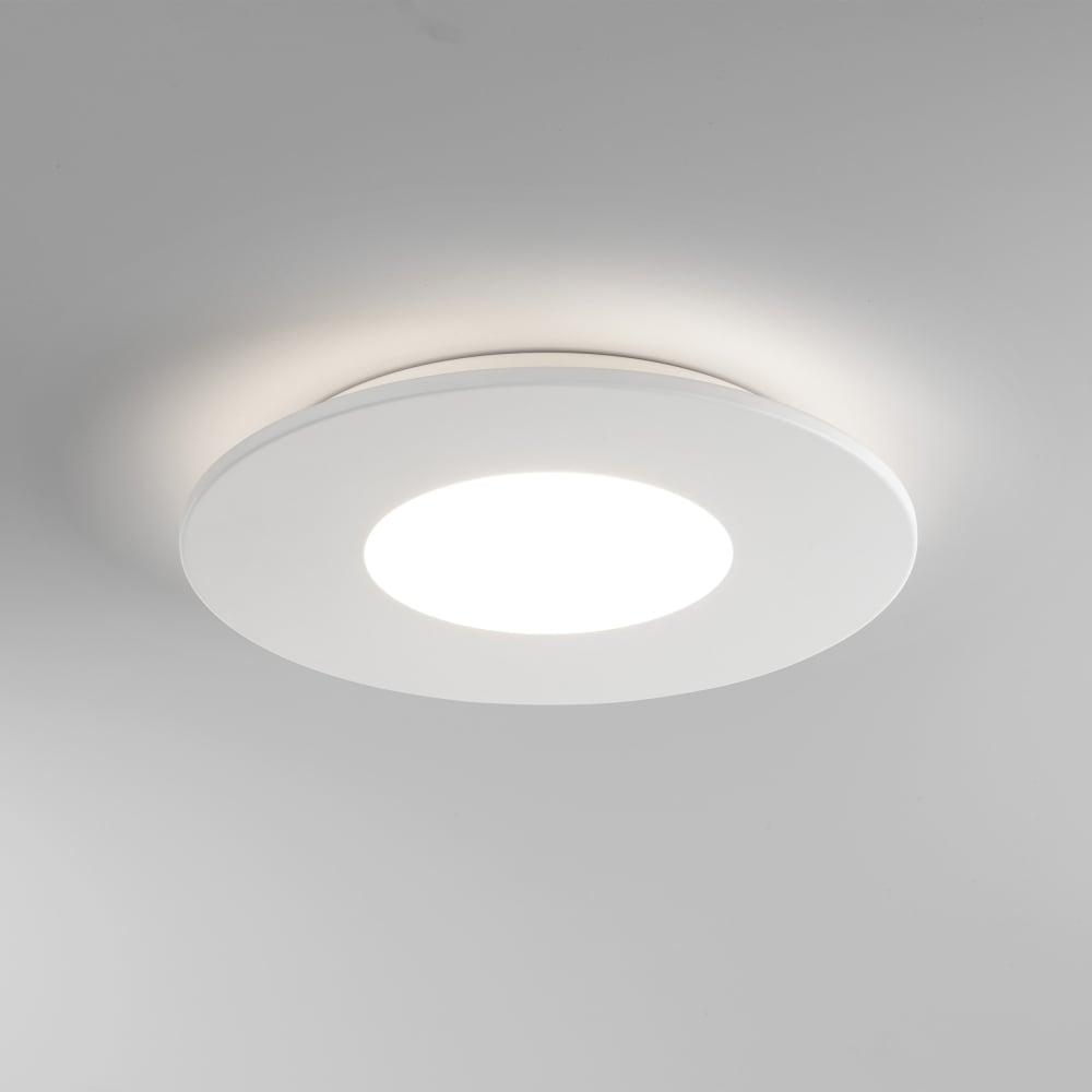 7420 zero round led flush ceiling light white