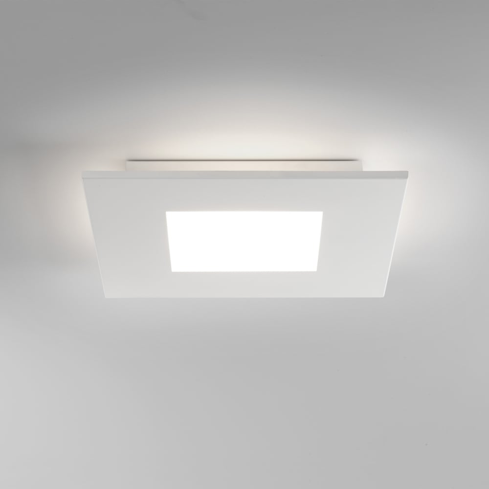 7419 Zero Square LED Flush Ceiling Light White