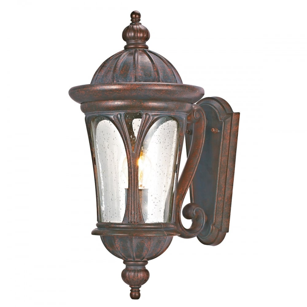 Blue Solar Wall Lights : Searchlight Canada 4272BR Weathered Brown Outdoor 1 Light Wall Light