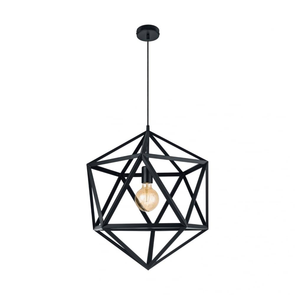 Smartwares Industrial Es Pendant Light Black Bronze: Eglo Embleton 49762 Vintage 1 Light Ceiling Pendant